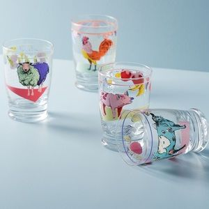 Anthropologie Lorena Maranon Toscana Juice Glasses